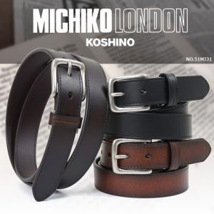 ベルト メンズ おしゃれ ビジネス メンズベルト ブランド MICHIKO LONDON ミチコロンドン JEANS ジーンズ|askashop