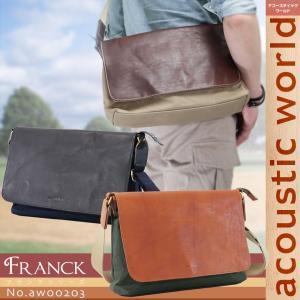 ショルダーバッグ メンズ 軽量 ブランド 日本製 acoustic world アコースティック・ワールド Franck フランク 斜めがけバッグ 撥水 メンズショルダーバッグ|askashop
