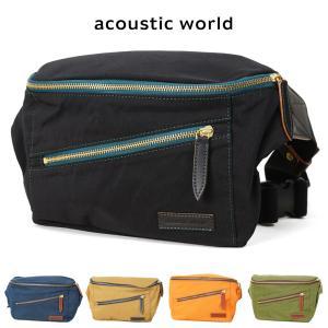 ボディバッグ メンズ  acoustic world アコースティック・ワールド Grunge グランジ 斜めがけ ウエストバッグ|askashop