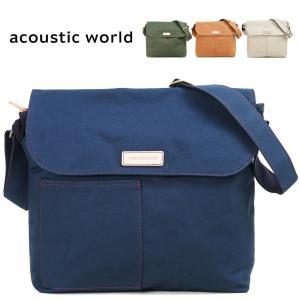 ショルダーバッグ メンズ 帆布 A4 ブランド 日本製 acoustic world アコースティック・ワールド STITCH ステッチ 斜めがけバッグ キャンバス 撥水 送料無料 askashop