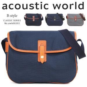 ショルダーバッグ メンズ A4 軽量 ブランド 日本製 acoustic world アコースティックワールド クラシック 斜めがけバッグ 男女兼用 撥水 メンズショルダーバッグ askashop
