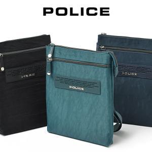 ショルダーバッグ メンズ  POLICE ポリス クレスパ メンズ バッグ 縦型 レディース 薄マチ  斜めがけ バッグ 通勤 通学 おしゃれ バック 肩掛け askashop