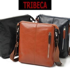 ショルダーバッグ メンズ 革  本革 TRIBECA トライベッカ 斜めがけ バッグ 肩掛け 薄マチ 本革 レザー askashop