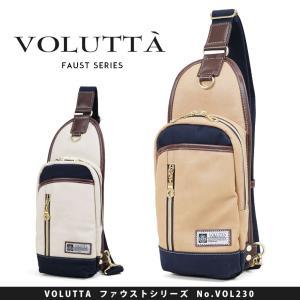 ボディバッグ メンズ VOLUTTA ヴォルッタ ファウスト ボディーバッグ ワンショルダー 肩掛け 合成皮革 帆布 A4未満 タテ型 軽量|askashop