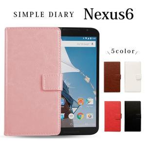 スマホケース Nexus 6 ケース ネクサス6  手帳型 カバー asobi-club