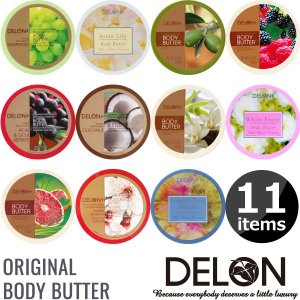 DELON デロン ボディバター 196g ボディクリーム 天然 シアバター 保湿 スキンケア オールスキンタイプ カナダ ナチュラルコスメ オーガニックコス