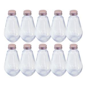 ハーバリウム 電球型ガラス瓶 218cc 10本セット キャップ付 硝子ビン 透明瓶 花材 ウエディング プリザーブドフラワー インスタ SNS インテリア 植の画像