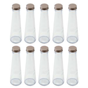 ハーバリウム 円錐ガラス瓶 100cc 10本セット キャップ付 硝子ビン 透明瓶 酒類容器 花材 ウエディング プリザーブドフラワー インスタ SNS インテ