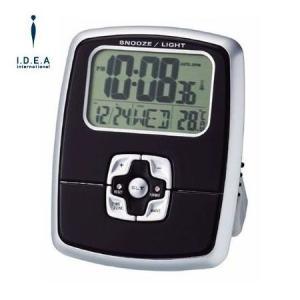 IDEA LABEL イデアレーベル LCR032-B グローバル電波アラームクロックET 置時計|asobi