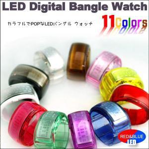 LED BANGLE WATCH LED バングルウォッチ 選べる本体カラー&LED|asobi