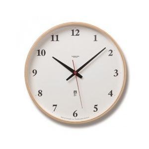 送料無料 Lemnos レムノス Plywood clock LC05-01W NT ナチュラル 電波時計|asobi