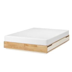 IKEA・イケア ベッド ベッドルーム MANDALベッドフレーム 収納付き, バーチ, ホワイト(102.804.82)|asobinointerior