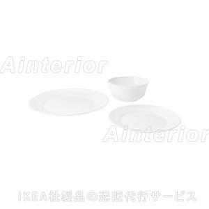 IKEA・イケア SAMTIDIG 食器12点セット, ホワイト|asobinointerior
