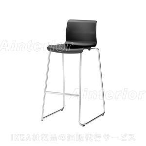 【IKEA/イケア/通販】「ダイニング・バースツール」GLENNバースツール, ブラック, クロムメッキ(202.032.28)|asobinointerior