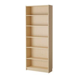 IKEA イケア 壁面収納家具 書棚 収納 本棚 BILLY 書棚, バーチ材突き板