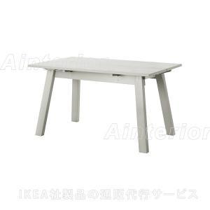 IKEA ダイニングテーブル INDUSTRIELL テーブル, ライトグレー (203.945.29)|asobinointerior