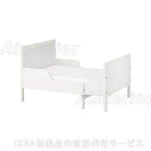 IKEA イケア ベッド SUNDVIK 伸長式ベッドフレームとすのこ(組み合わせ), ホワイト (392.403.39)|asobinointerior