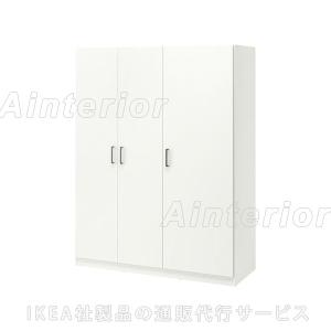 IKEA・イケア 収納 衣装収納 ワードローブ DOMBAS ワードローブ, ホワイトの写真