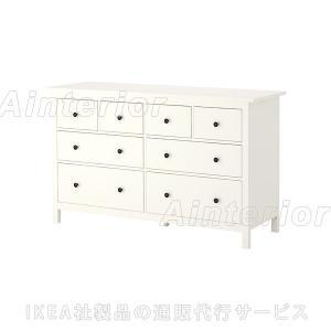 IKEA イケア チェスト たんす 収納 家具 HEMNES   チェスト(引き出し×8) ホワイト|asobinointerior