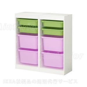 IKEA・イケア おもちゃ箱・おもちゃ入れ・子供収納 TROFAST(トロファスト) 収納コンビネーション, ホワイト, マルチカラー(498.730.05)|asobinointerior
