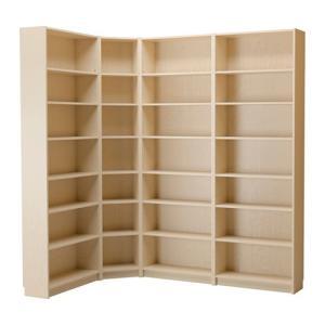 IKEA・イケア 書棚・本棚 BILLY (ビリー)  書棚,バーチ材突き板, 100x180x237x28 cm (590.234.10)