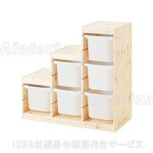 IKEA・イケア おもちゃ箱・子供収納 TROFAST(トロファスト) 収納コンビネーション, ライトホワイトステインパイン, ホワイト (892.409.02)|asobinointerior