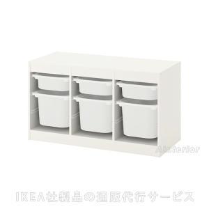 IKEA・イケア おもちゃ箱・子供収納 TROFAST(トロファスト) 収納コンビネーション, ホワイト, ホワイト (892.224.13)