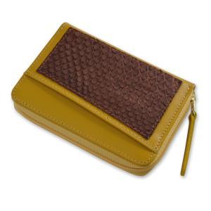 小銭入れ メンズ コインケース 黄色 プレゼント ギフトパイソン レディース 本革 PC-H1200|asoboze