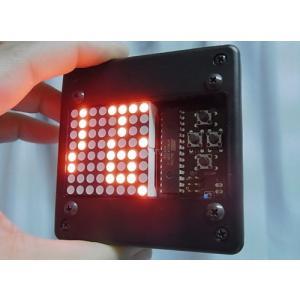流れるLED文字盤(赤) 樹脂ボックス 電池ボックス貼り付け単発仕様(タカチTW8-2-8B使用) asokara