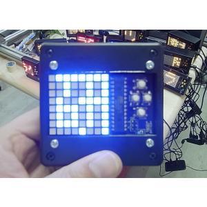 流れるLED文字盤(角青) 樹脂ボックス 電池ボックス貼り付け単発仕様(タカチTW8-2-8B使用) asokara