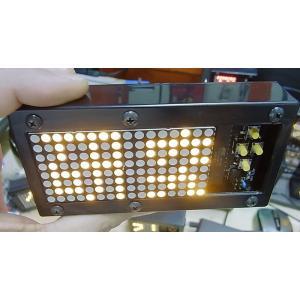 流れるLED文字盤(黄) 樹脂ボックス 電池ボックス貼り付け2連仕様(タカチSW-120使用) asokara