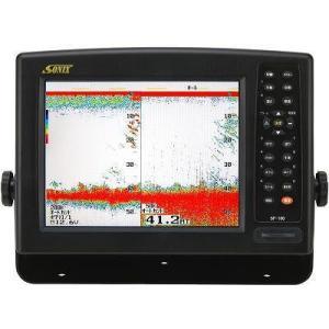 【廃盤】魚探 SONIX ソニック 10.4型カラー液晶高感度魚群探知機 SF-100 TW-01 600w 200KHz|asomarina