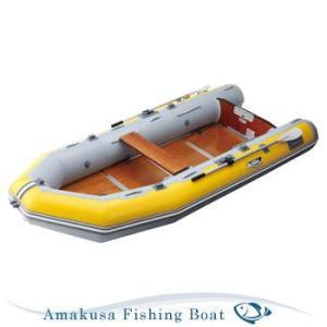ゴムボート ACHILLES アキレス 5人乗り Kuroobi FMR-505 イエロー/ライトグレー ウッドフロア 2馬力対応 予備検査付き|asomarina