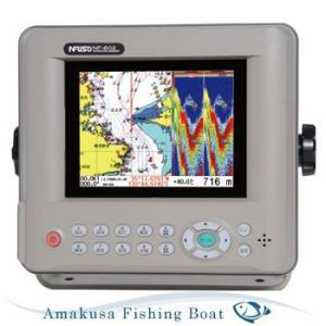 魚探 FUSO フソー 5.6型 カラー液晶GPSプロッタ魚探 NF-602α TD-007 50/200KHz 600W|asomarina