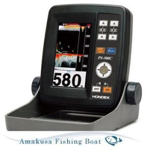 魚探 HONDEX ホンデックス 4.3型ワイドポーダブル魚群探知機 PS-500C TD04A 100W 200KHz asomarina