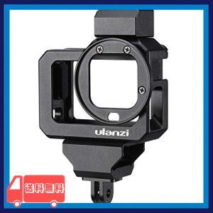 ULANZI GoPro HERO 8用 ビデオケージ ケース アルミニウム合金 保護 マイクアダプター収納 52mmフィルターアダプター|asotosi55