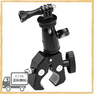 EXSHOW カメラホルダー 自転車・バイク・オートバイマウント 1/4ネジ 360度回転 三脚式マウント デジタルカメラ/Go|asotosi55
