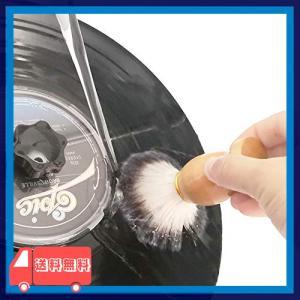 MayRecords レコード用木製ハンドル水洗ブラシ レコードクリーナー用品 クリーニングブラシ|asotosi55