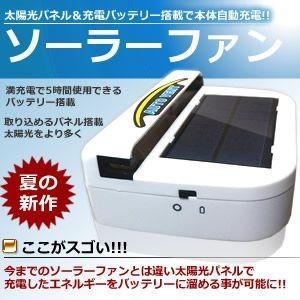 充電式バッテリー 搭載 太陽光パネル 搭載 車用品 ソーラーファン 最大5時間 使用可能 ET-SOLAFAN|aspace