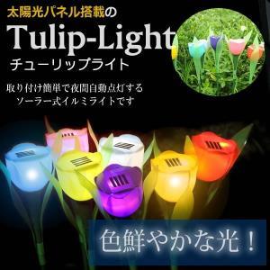 太陽光パネル搭載のチューリップ型 LEDライト 玄関 庭 ガーデンライト エコ ET-TULIP-LIGHT aspace