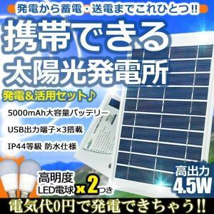 日本語説明書有り 小型 太陽光発電システム 防水 充電 バッテリー 単結晶 ソーラーパネル 照明 キャンプ 車中泊 防災 エコ 独立型 YS-TY-WY2