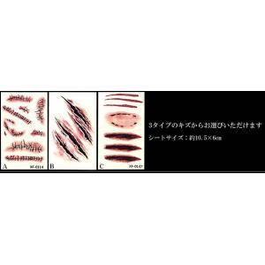 キズ タトゥーシール ハロウィーン コスプレ ゾンビ 3D リアル 仮装 ET-KZTTU|aspace|02