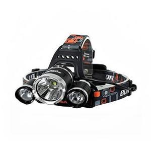 商品名:3灯式LEDヘッドライト ルーメン:5000LM バッテリー:18650型リチウム電池2本(...