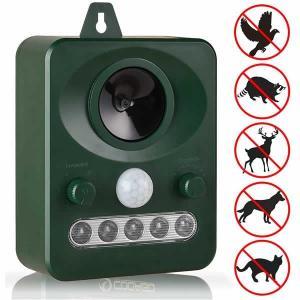 猫よけ 動物撃退器 超音波 ソーラー式 害獣対策 害獣撃退 猫犬退治 赤外線センサー LED強力 DOUGEKI
