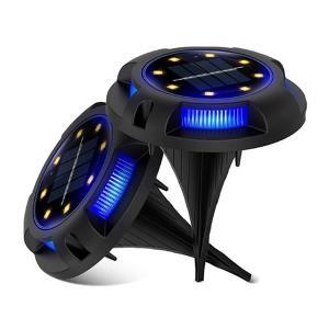 自動点灯 埋め込み式 ソーラー ライト 2台セット LED 8LED 電気代0円 防水対応 ガーデン 玄関 屋外照明 太陽光充電 2-JRGSGS|aspace