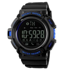 Bluetooth スポーツスマートウォッチ デジタル腕時計 ブルー メンズ 男性 多機能 スポーツウォッチ オシャレ 快適 時間 クロック BTSWAWW aspace