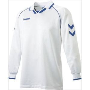 [hummel]ヒュンメル 長袖ゲームシャツ (HAG2006A)(163) ホワイト×ロイヤルブルー[取寄商品]|aspo