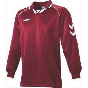 [hummel]ヒュンメル 長袖ゲームシャツ (HAG2006A)(22) ワイン×ホワイト[取寄商品]|aspo