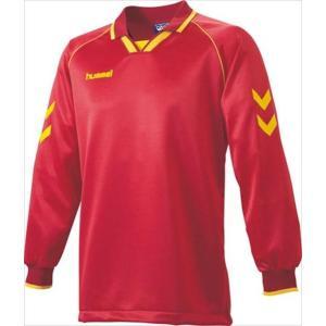 [hummel]ヒュンメル 長袖ゲームシャツ (HAG2006A)(23) レッド×イエロー[取寄商品]|aspo