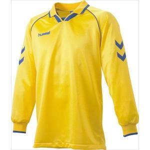 [hummel]ヒュンメル 長袖ゲームシャツ (HAG2006A)(36) イエロー×ロイヤルブルー[取寄商品]|aspo